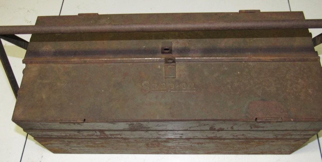 Vintage Snap On Tool Box w/ Tools - 2
