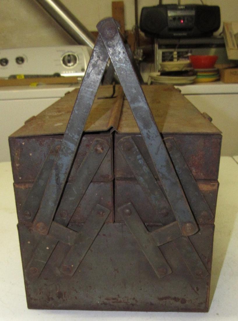 Vintage Snap On Tool Box w/ Tools - 4