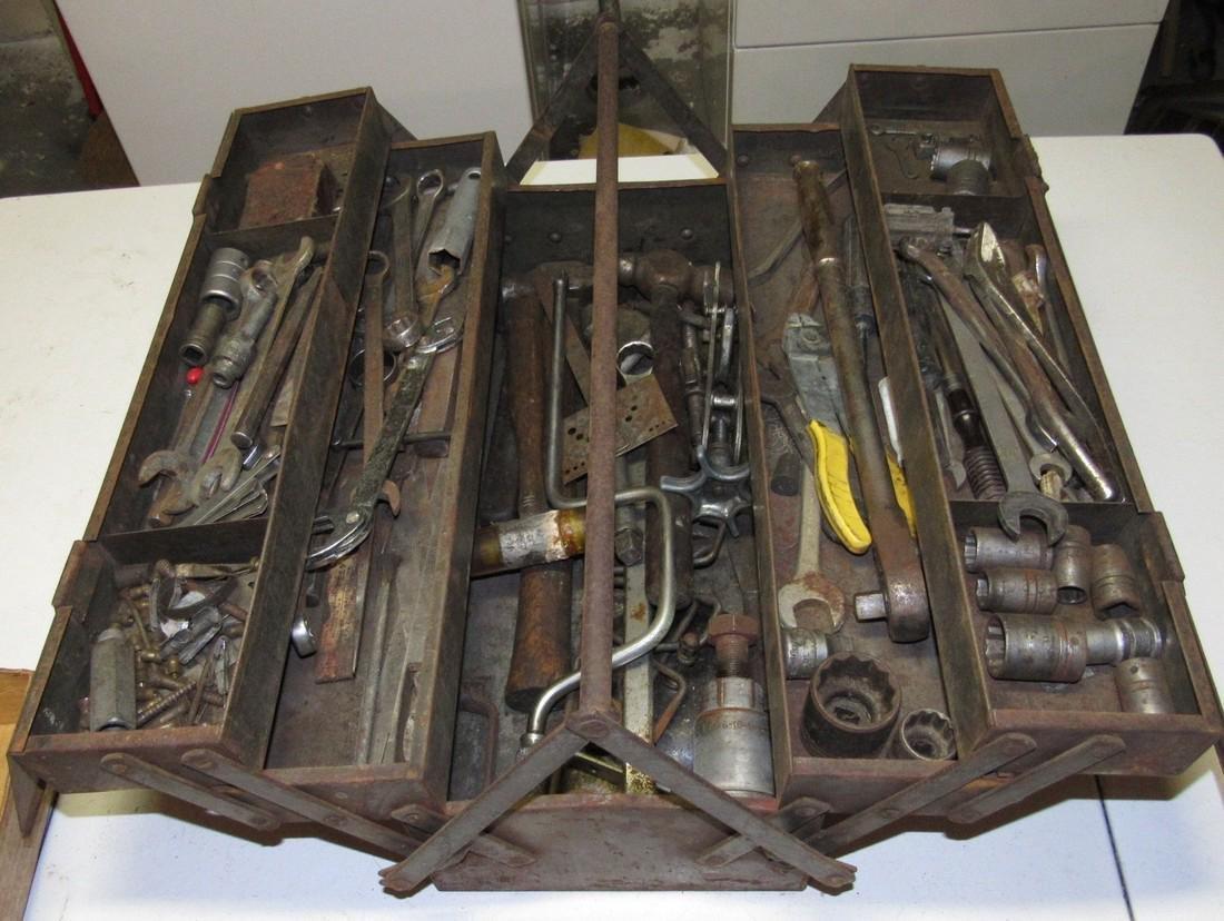 Vintage Snap On Tool Box w/ Tools - 5