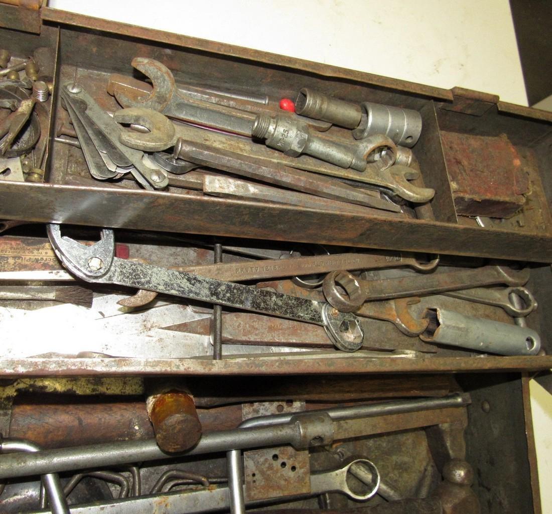 Vintage Snap On Tool Box w/ Tools - 8