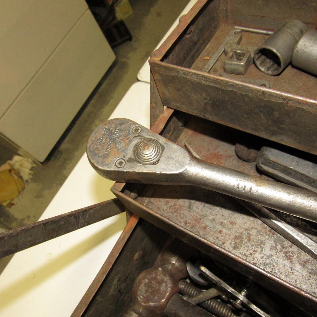 Vintage Snap On Tool Box w/ Tools - 9