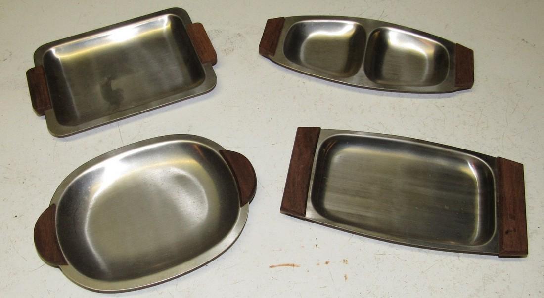 4 Elpo Mid Century Modern Trays
