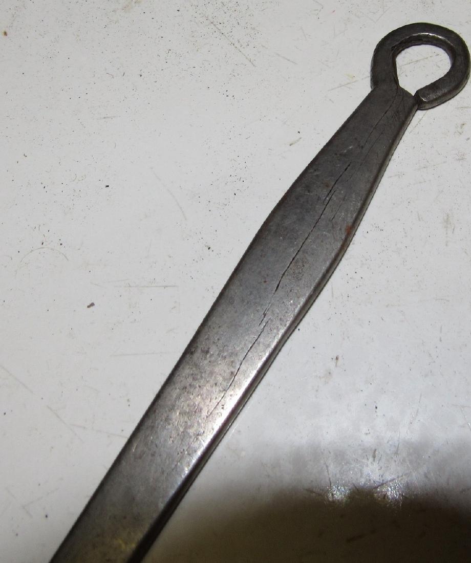 Antique Wrought Iron Piel - 3