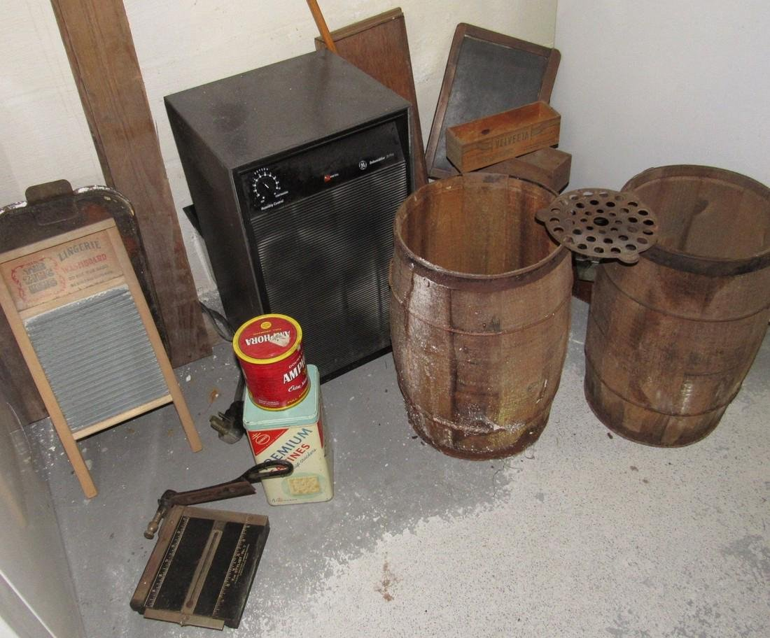 Wooden Drums Washboard Cheeseboxes
