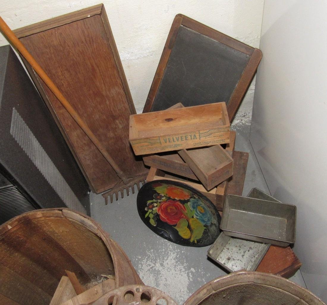 Wooden Drums Washboard Cheeseboxes - 3