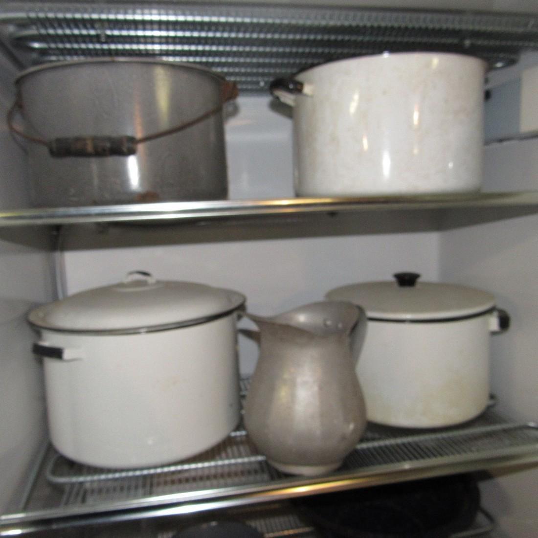 Lot of Agateware Pots Pans Misc - 2
