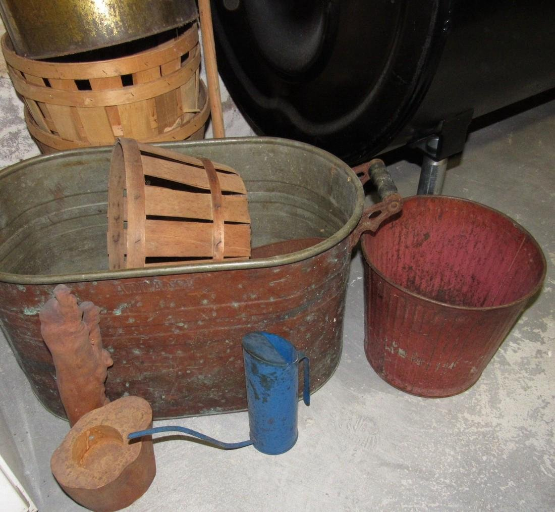 Copper Boiler Pails Baskets Water Can - 2