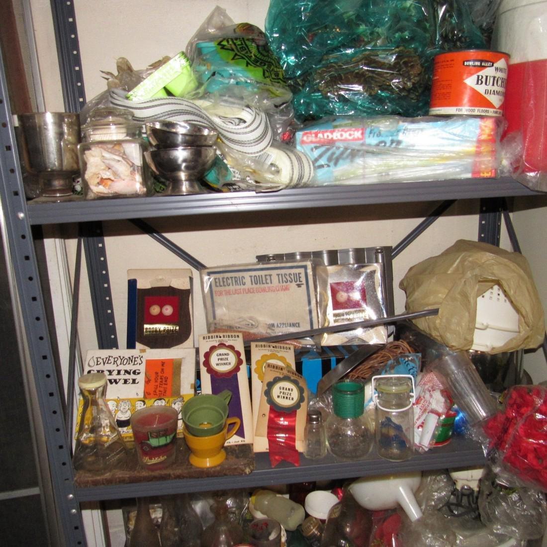 Metal Shelf & Contents - 3