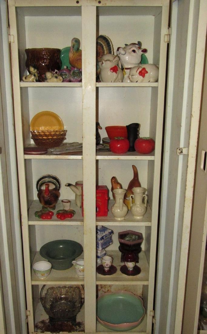 Pottery Glassware & Metal 2 Door Cabinet