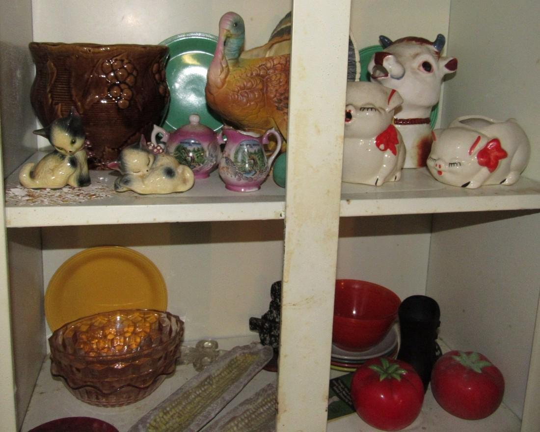 Pottery Glassware & Metal 2 Door Cabinet - 2