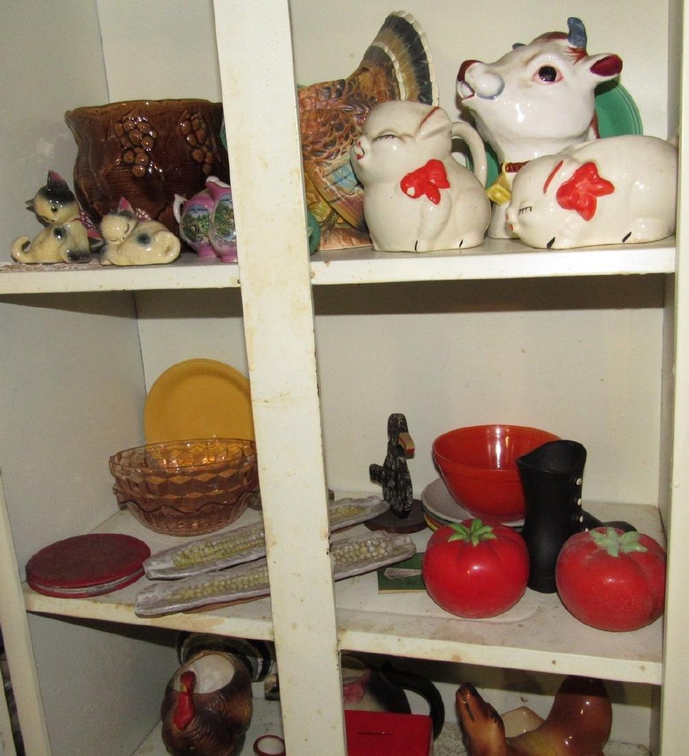 Pottery Glassware & Metal 2 Door Cabinet - 3