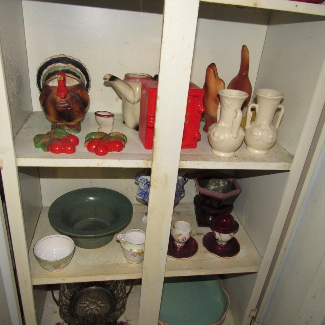 Pottery Glassware & Metal 2 Door Cabinet - 4