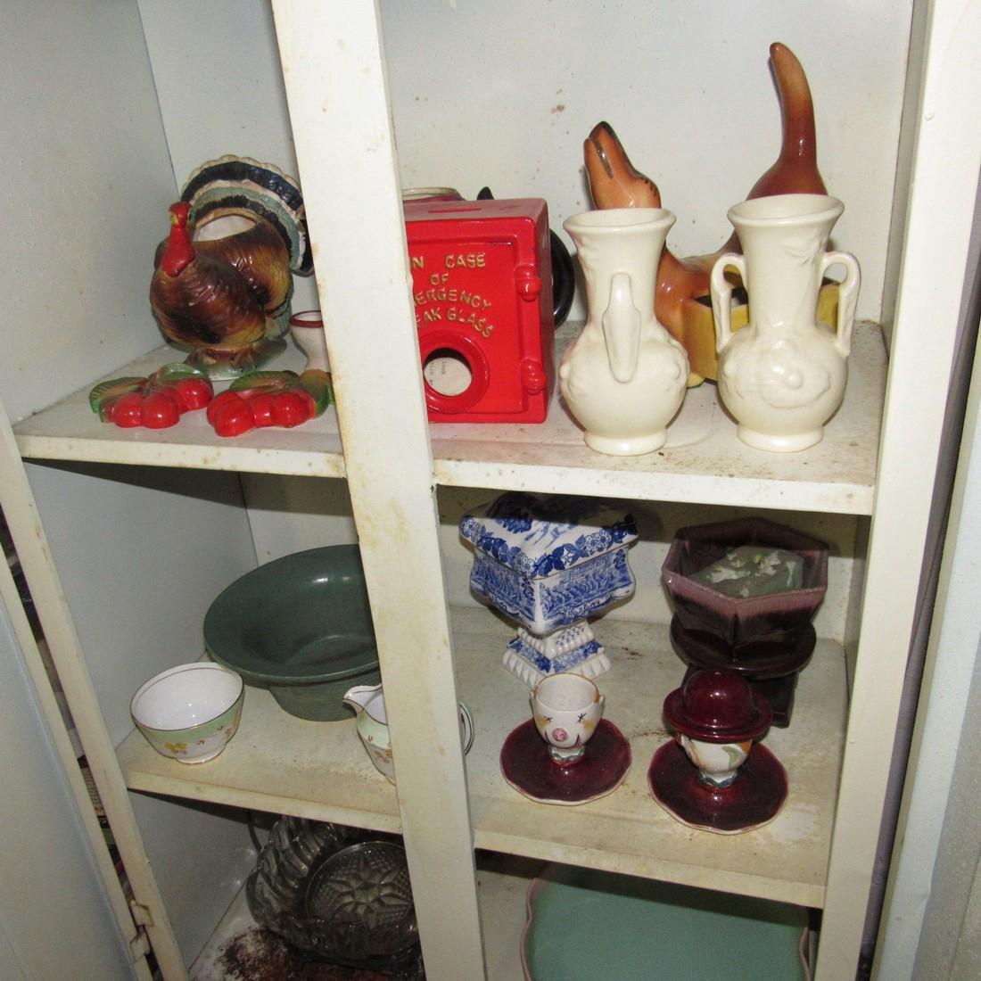 Pottery Glassware & Metal 2 Door Cabinet - 5