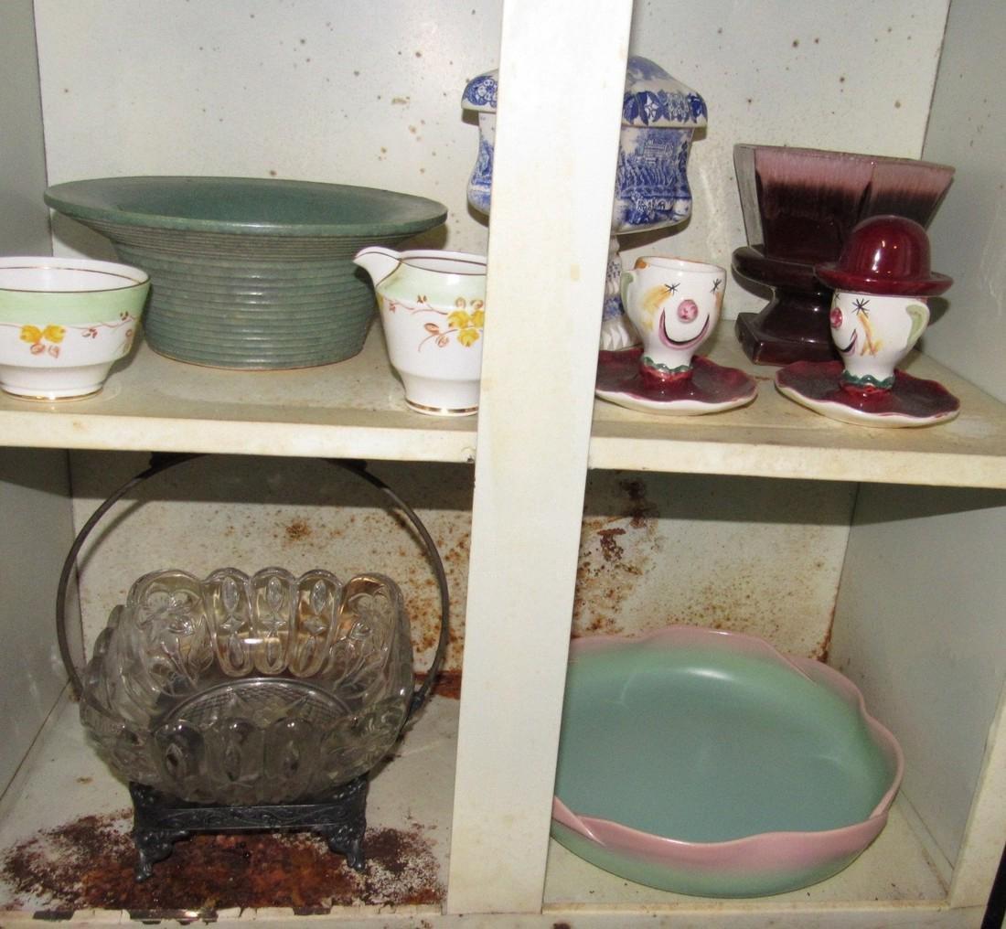 Pottery Glassware & Metal 2 Door Cabinet - 6