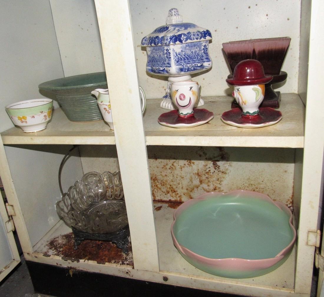 Pottery Glassware & Metal 2 Door Cabinet - 7