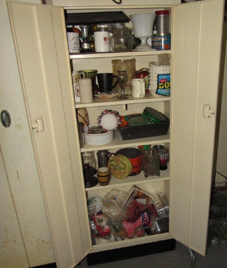 Metal Cabinet & Misc Contents