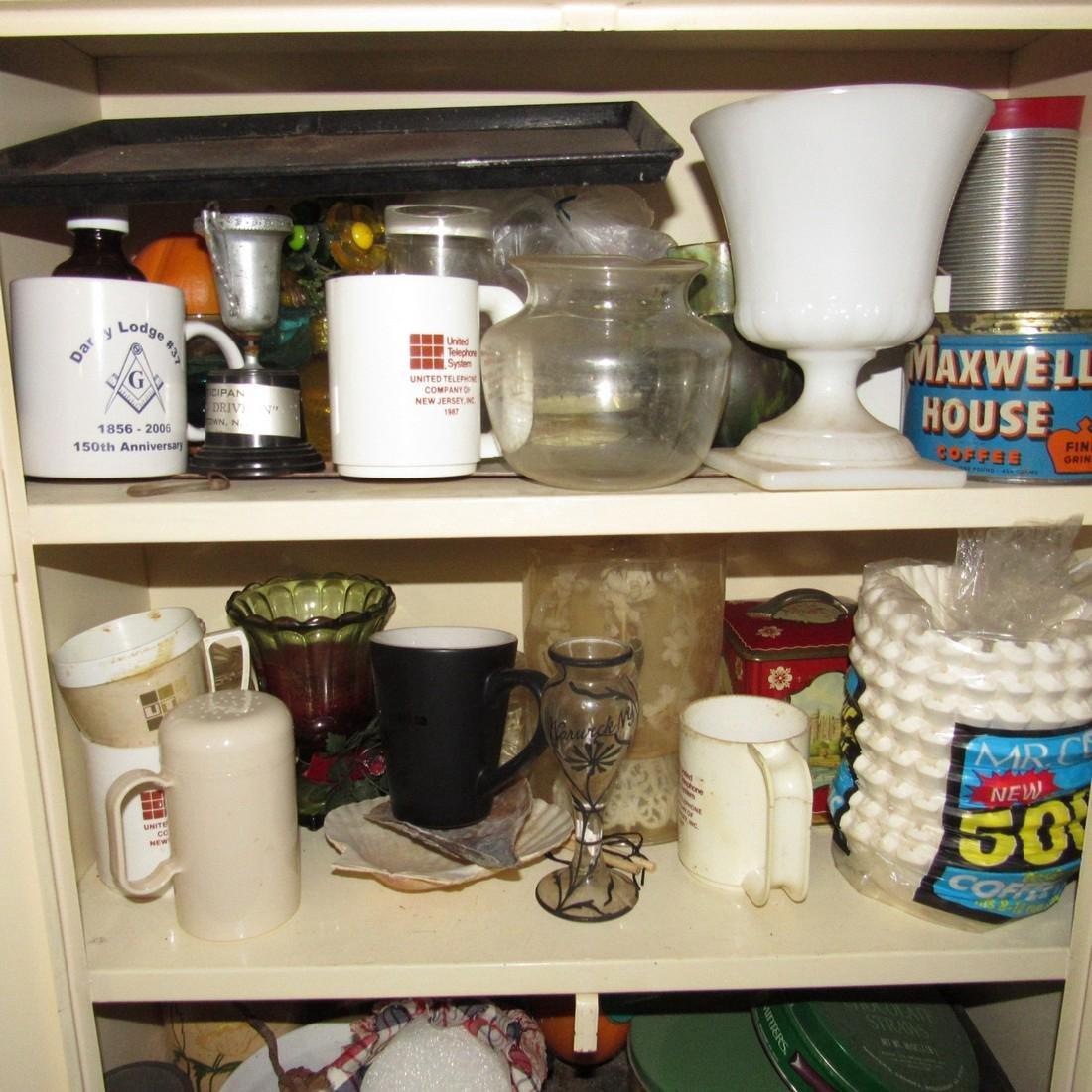 Metal Cabinet & Misc Contents - 2