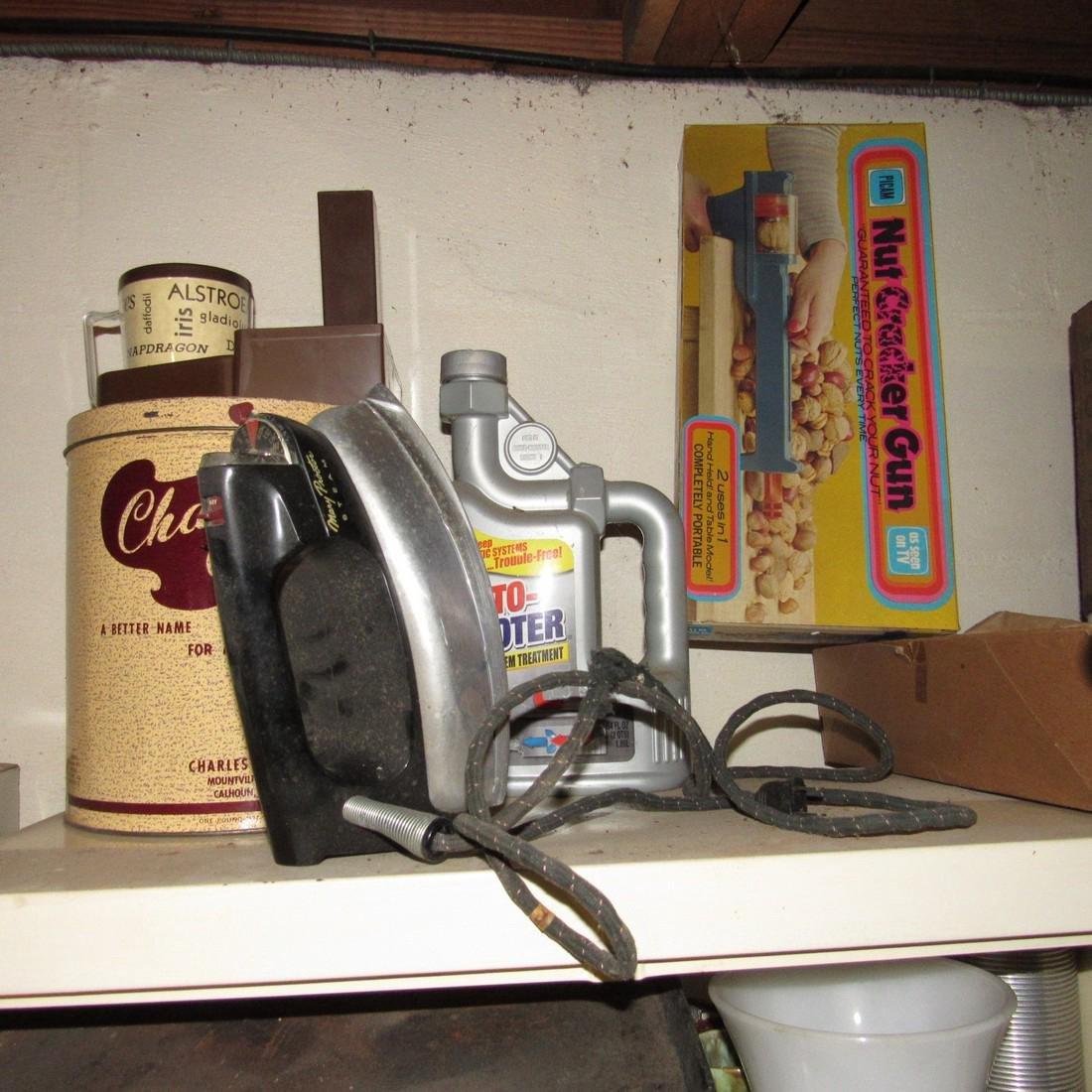 Metal Cabinet & Misc Contents - 3