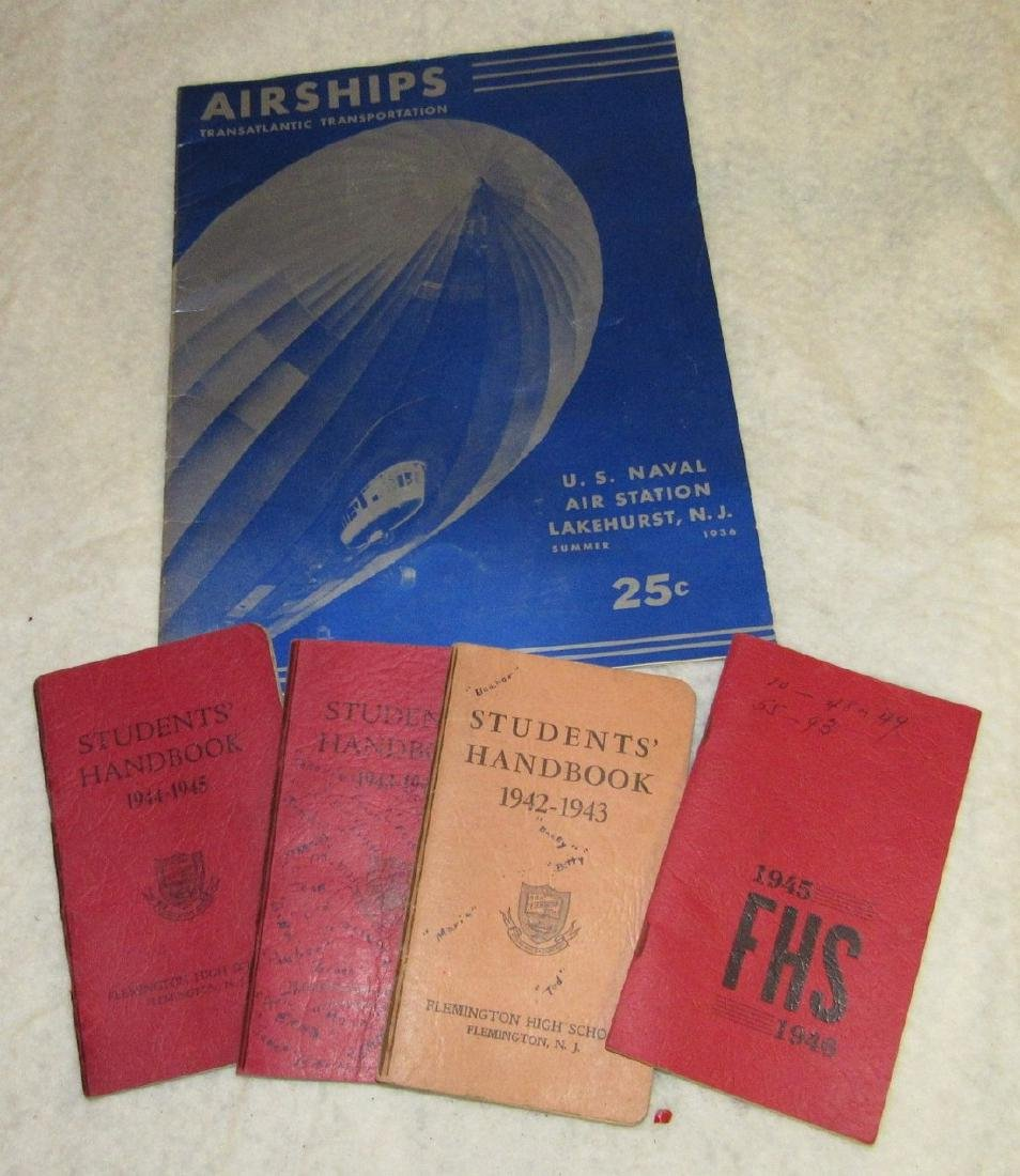 US Naval Airships & Flemington School Books