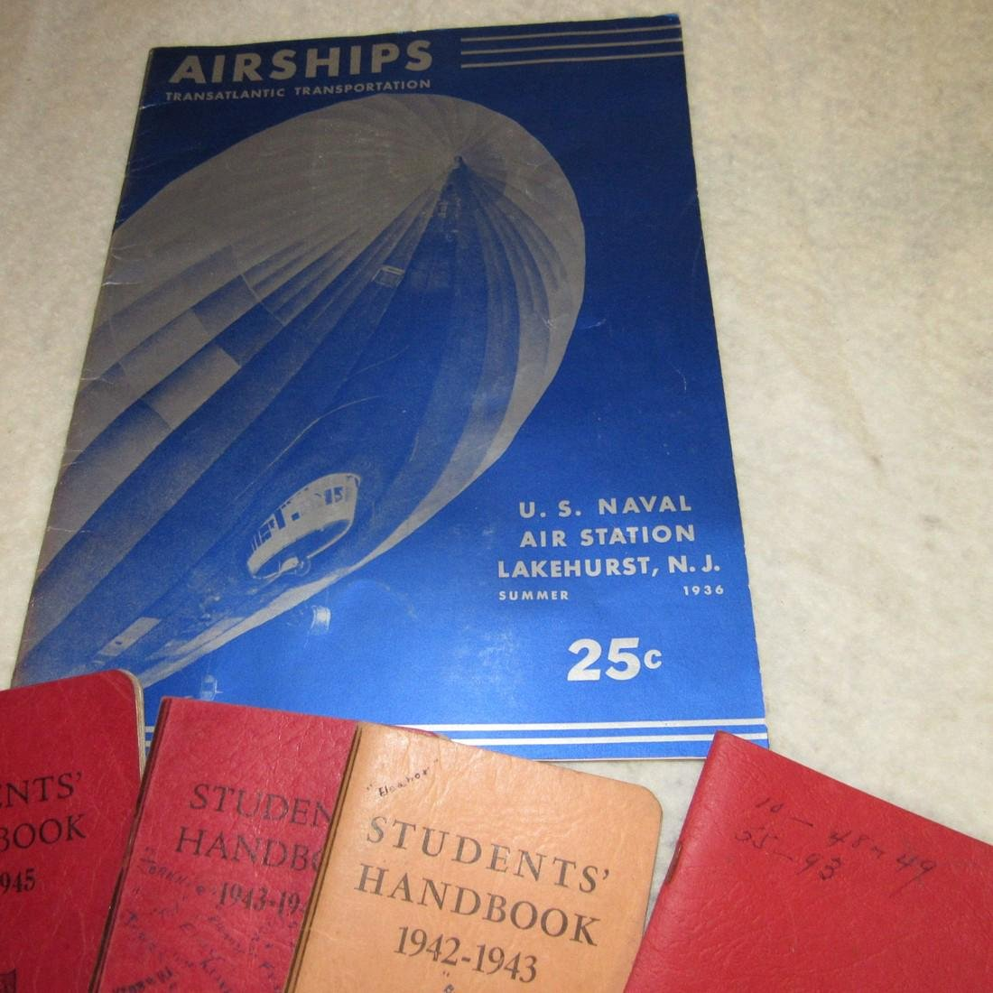 US Naval Airships & Flemington School Books - 2