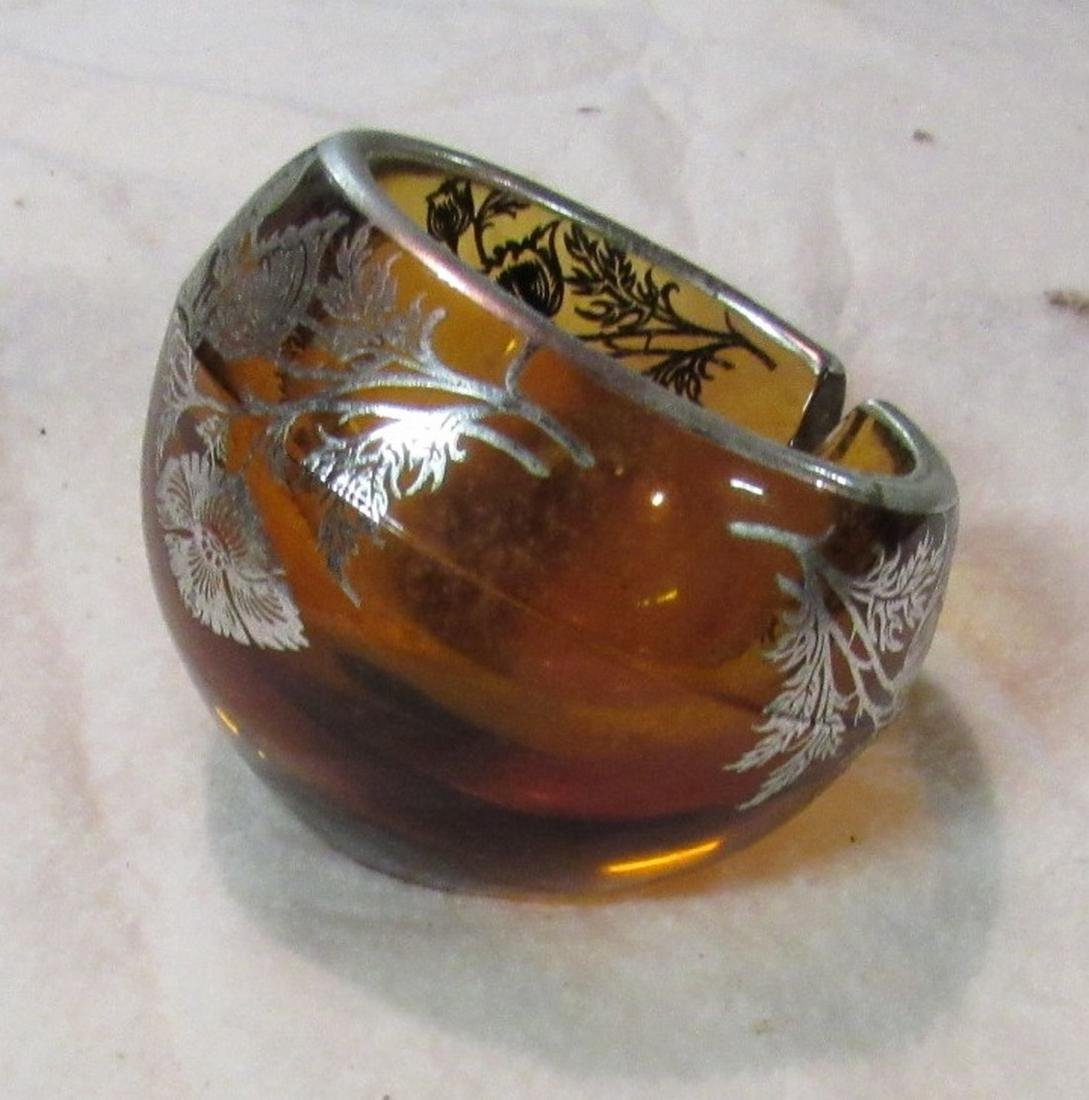 Sterling Silver on Crystal Ashtray