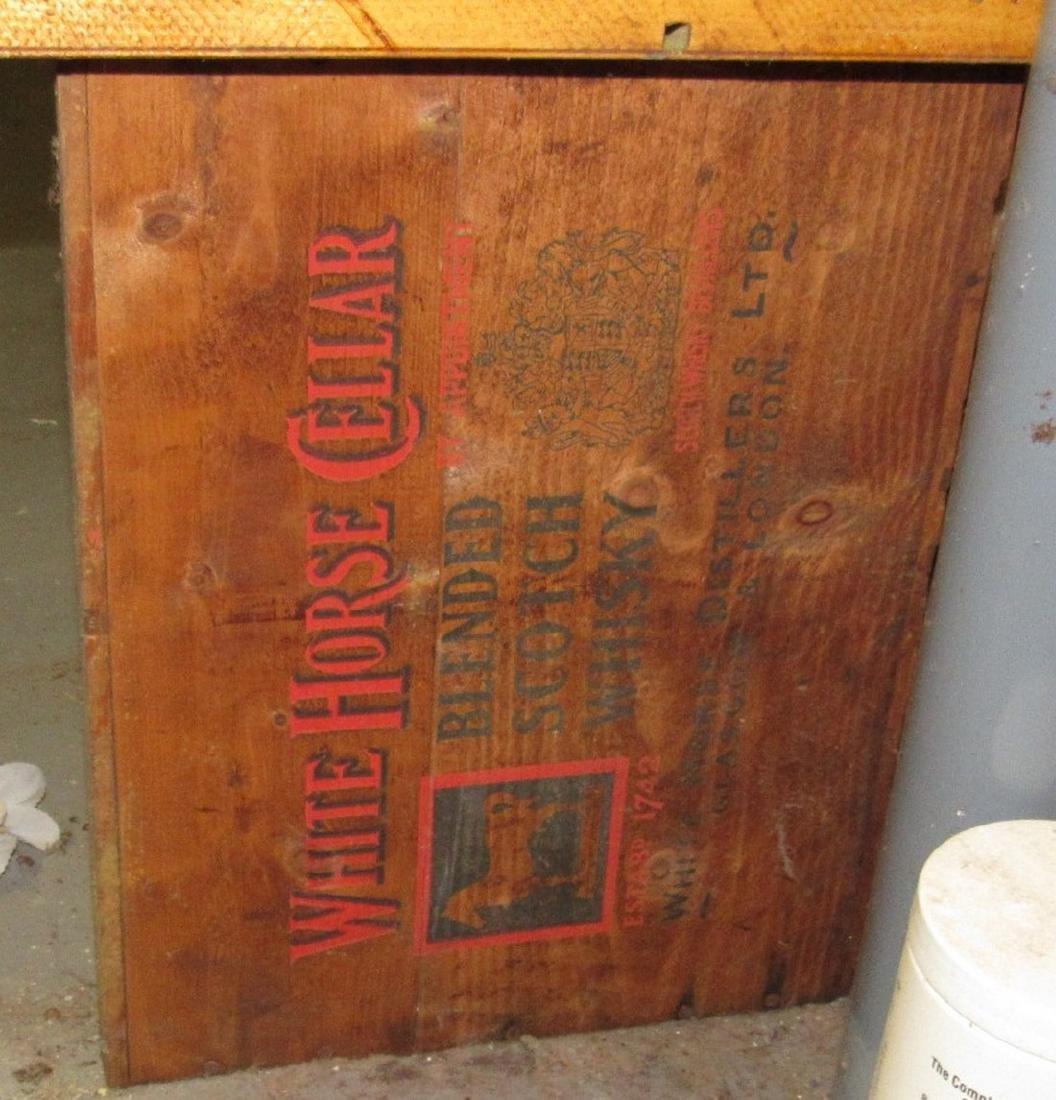 2 White Horse Whiskey Wooden Crates