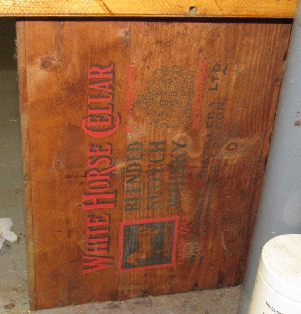 2 White Horse Whiskey Wooden Crates