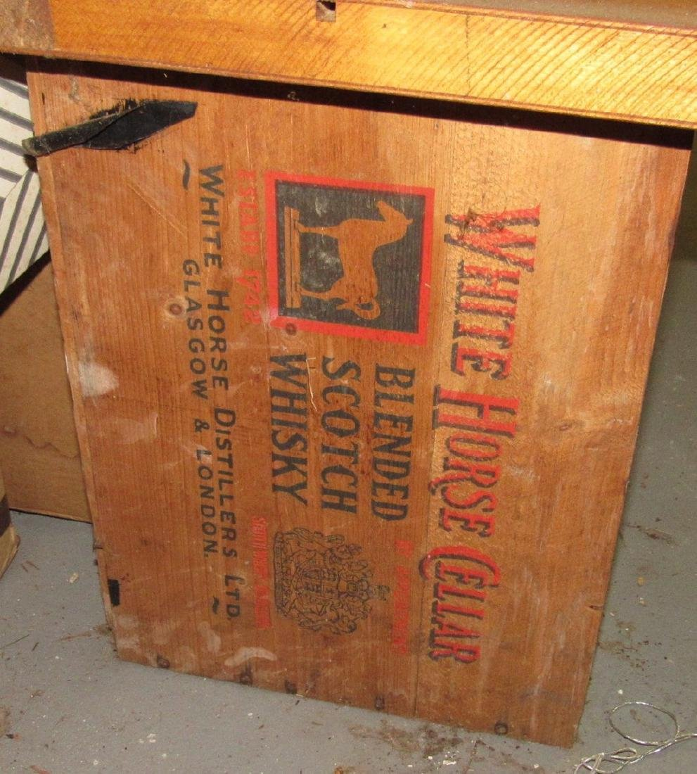 2 White Horse Whiskey Wooden Crates - 2