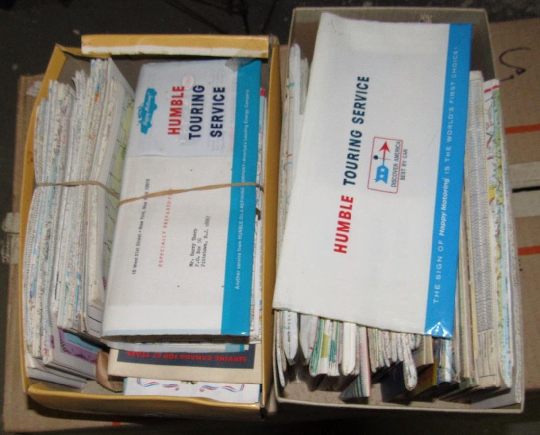 2 Shoe Boxes Full Of Road Maps