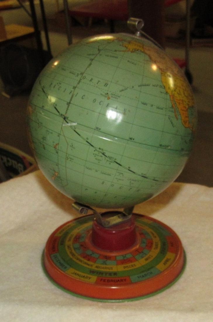 Vintage Tin Terrestrial Globe