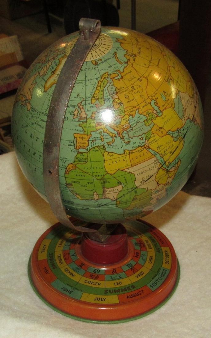 Vintage Tin Terrestrial Globe - 3