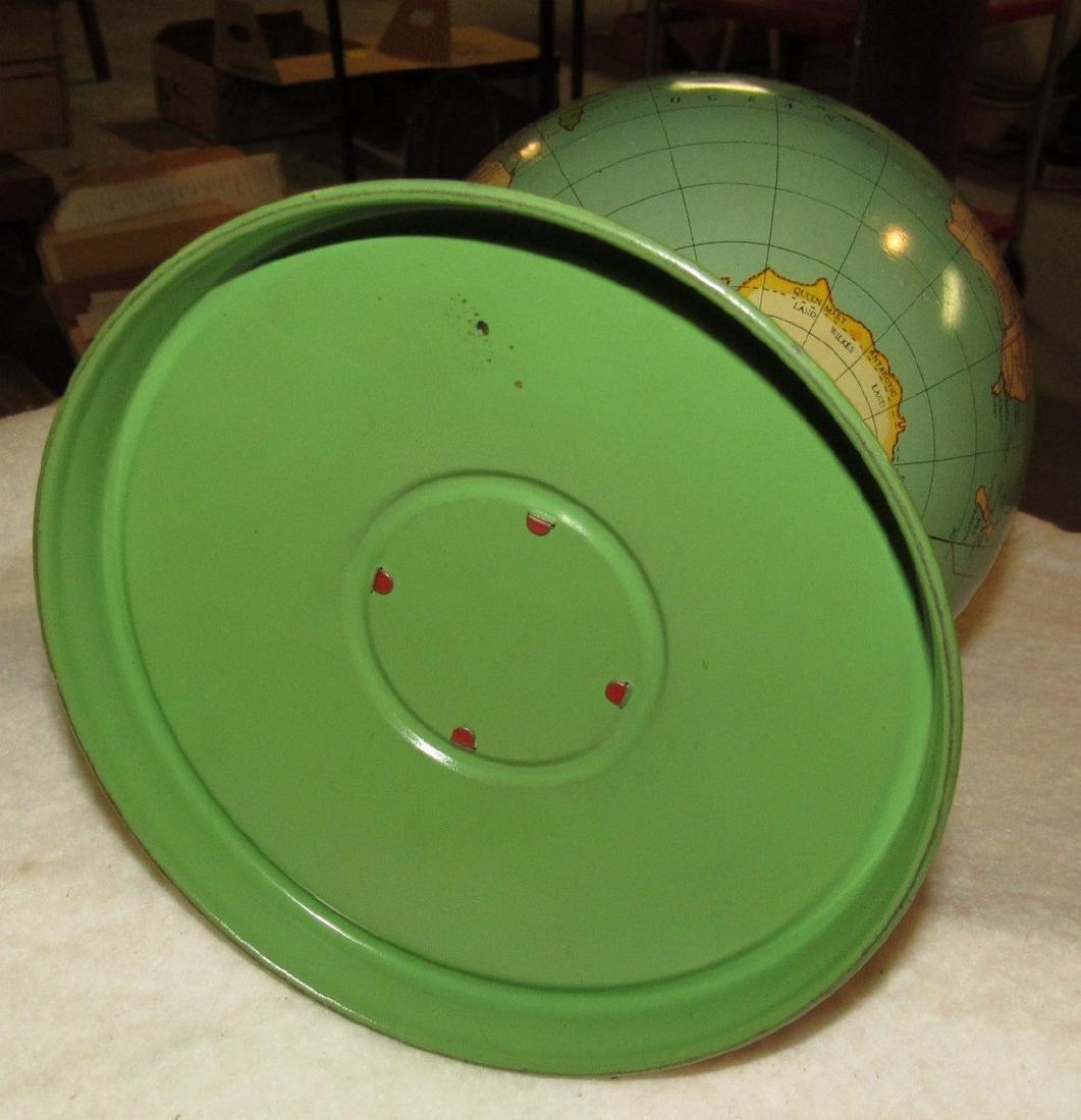 Vintage Tin Terrestrial Globe - 4