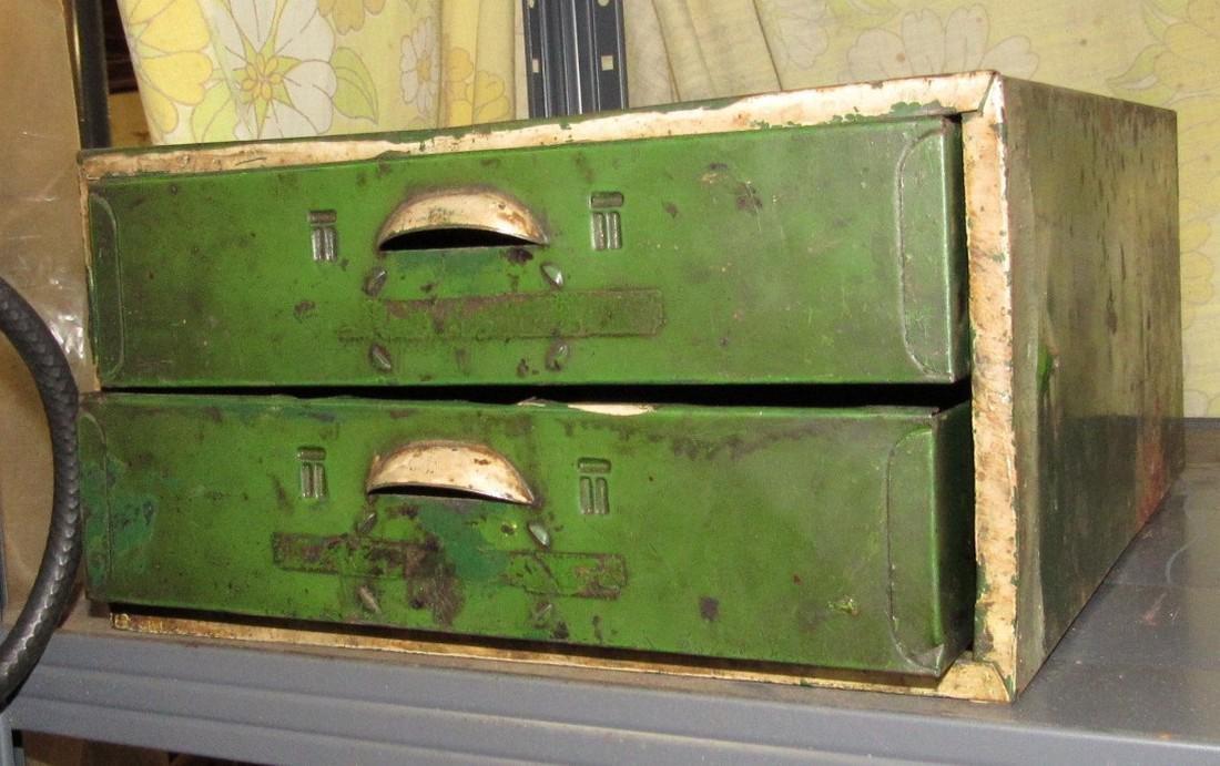 Vintage Metal Parts Cabinet