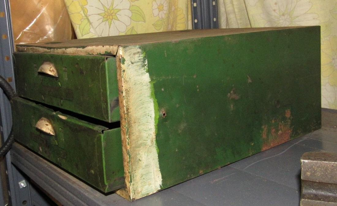 Vintage Metal Parts Cabinet - 2