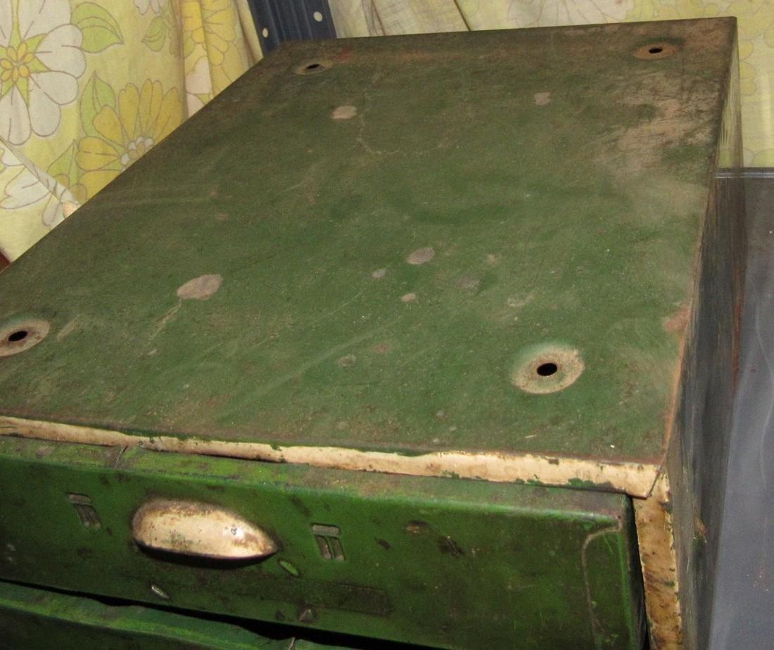 Vintage Metal Parts Cabinet - 3