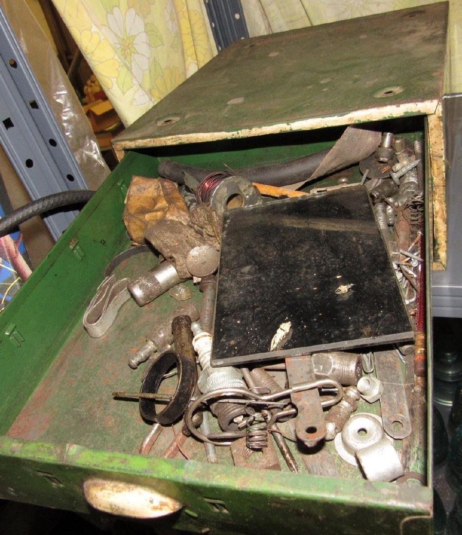 Vintage Metal Parts Cabinet - 4