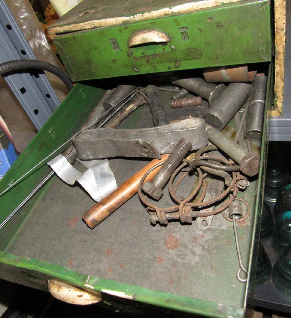 Vintage Metal Parts Cabinet - 5
