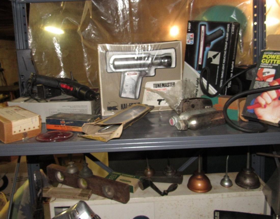 Tools Oil Cans Timing Lights Socket Sets Shelf - 2