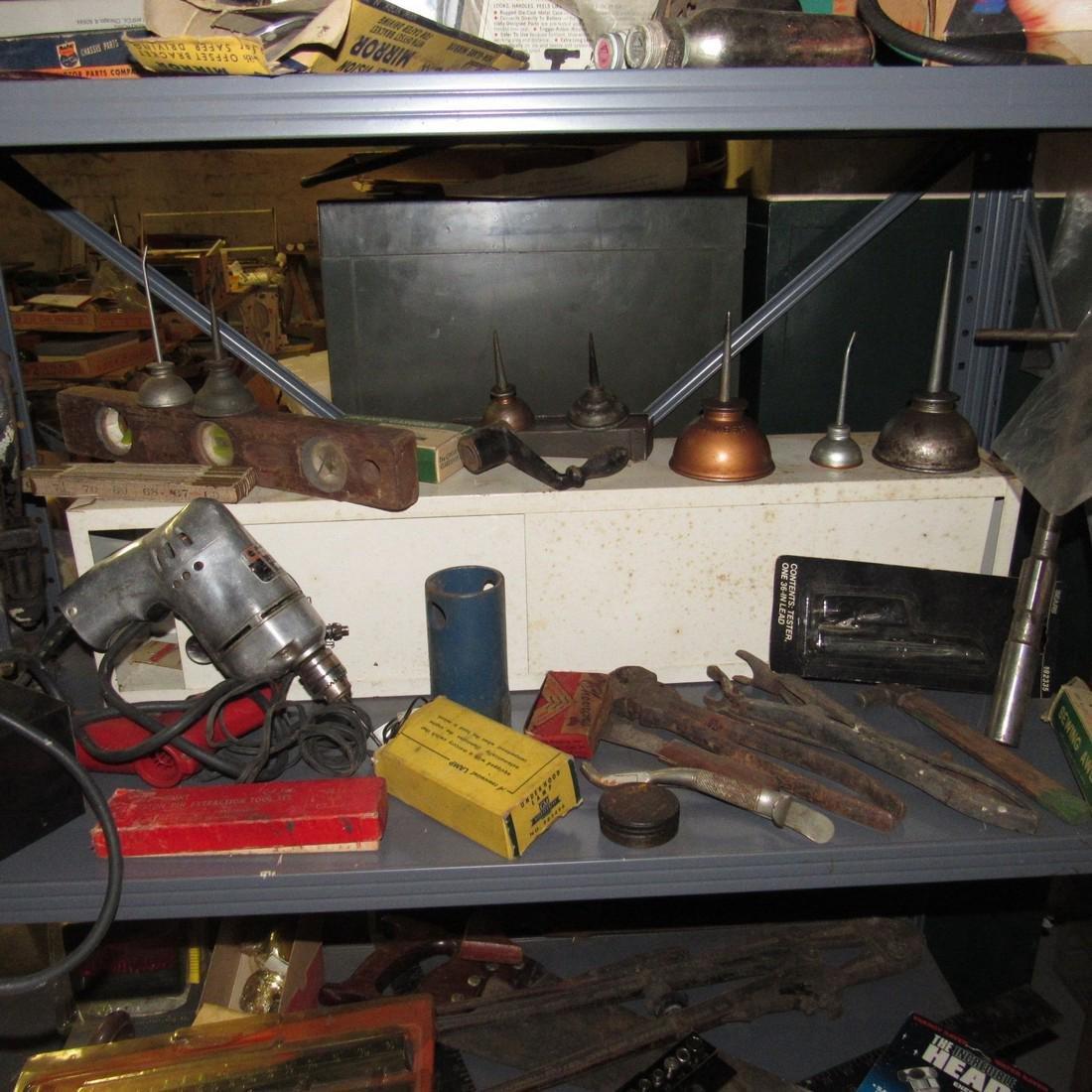 Tools Oil Cans Timing Lights Socket Sets Shelf - 3