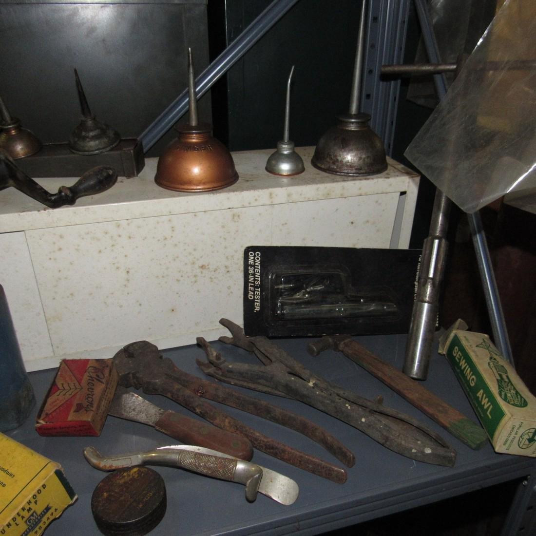 Tools Oil Cans Timing Lights Socket Sets Shelf - 6