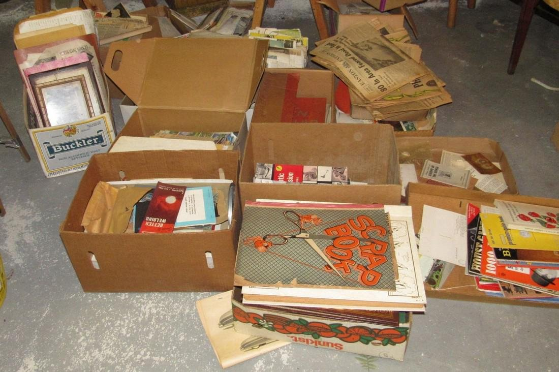 Large Lot of Literature Scrapbooks & Misc