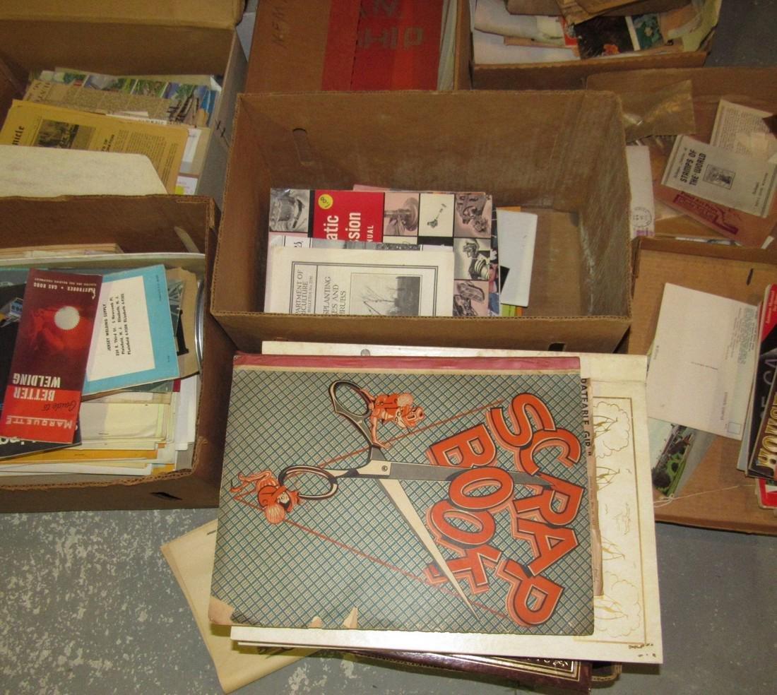 Large Lot of Literature Scrapbooks & Misc - 3