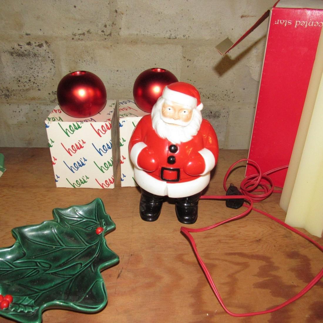 Christmas Lot Light Up Santa Ornaments - 2