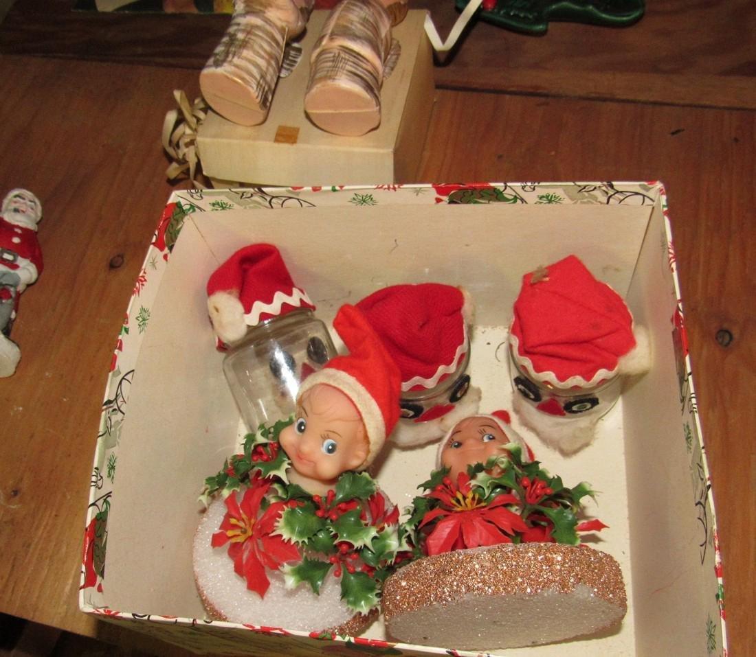Christmas Lot Light Up Santa Ornaments - 5