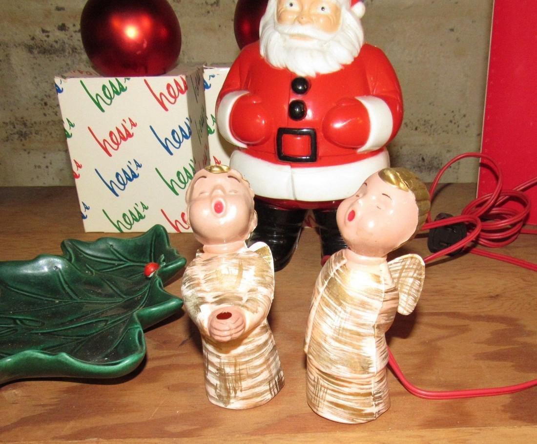 Christmas Lot Light Up Santa Ornaments - 8