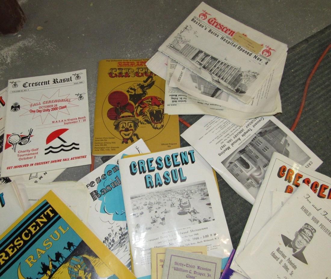 Crescent Rasul Magazines Shrine Masonic Lot - 2