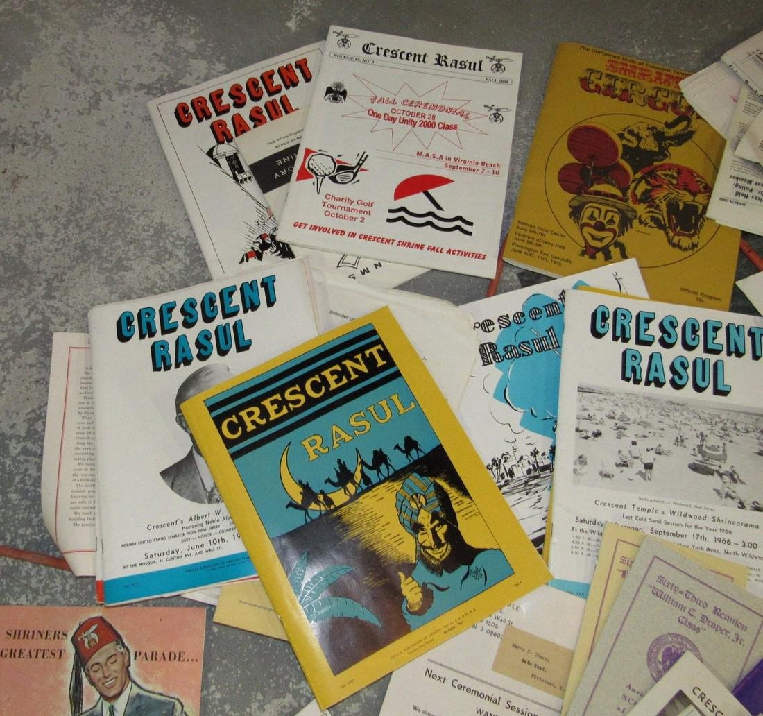 Crescent Rasul Magazines Shrine Masonic Lot - 3