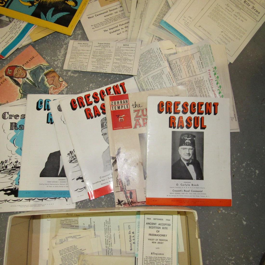 Crescent Rasul Magazines Shrine Masonic Lot - 6