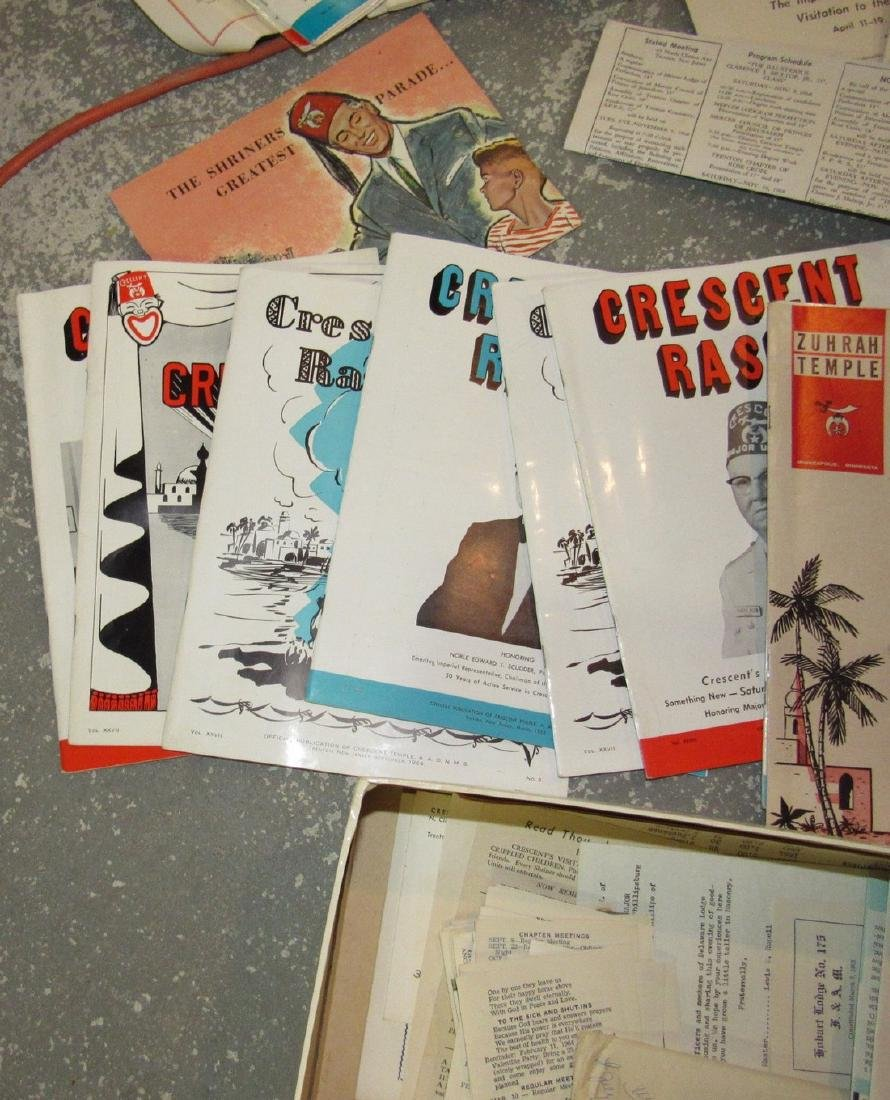 Crescent Rasul Magazines Shrine Masonic Lot - 7