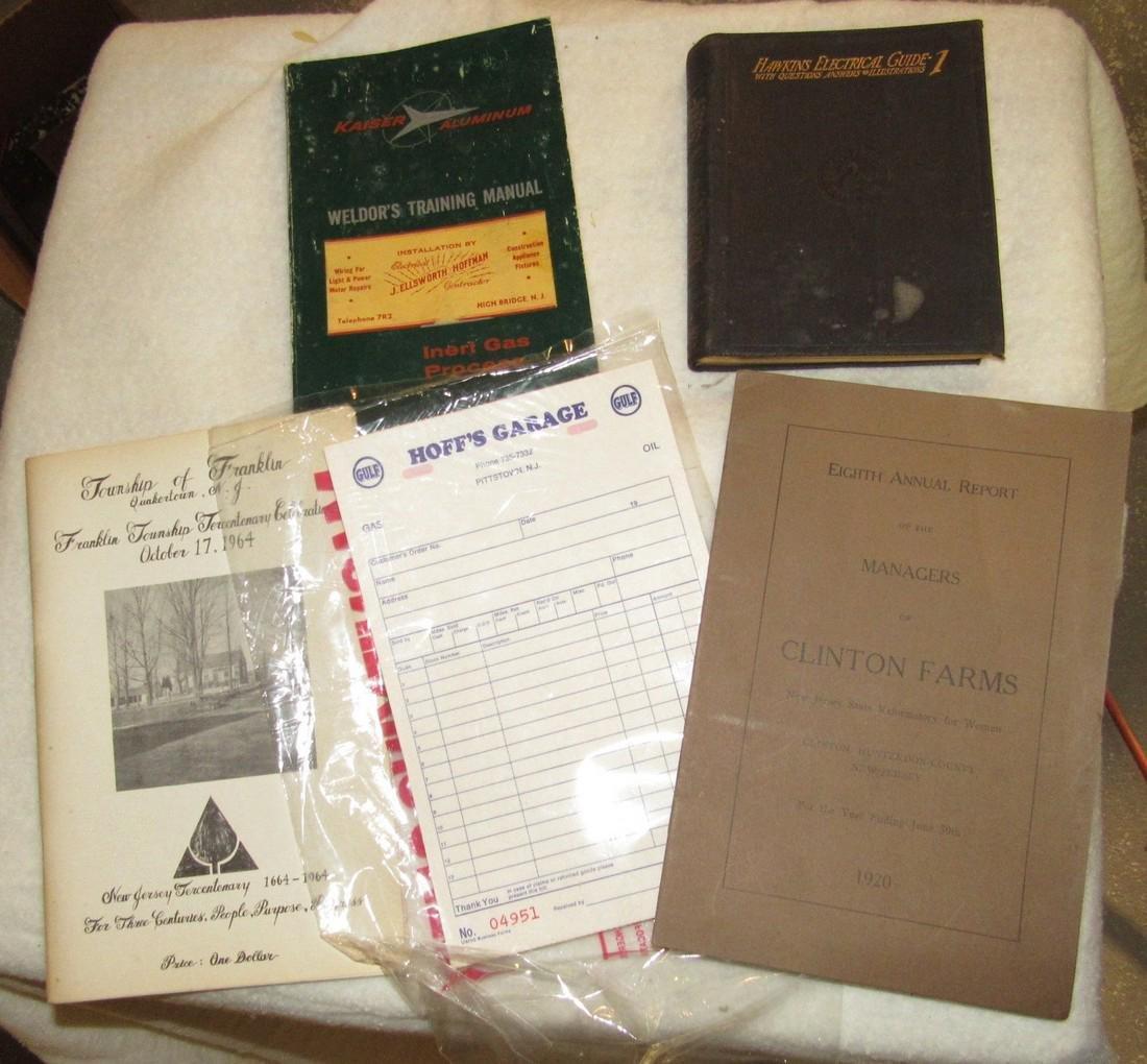 1920 Clinton Farms Annual Report & Local Books